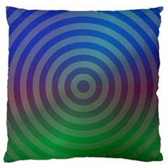 Blue Green Abstract Background Large Flano Cushion Case (two Sides)