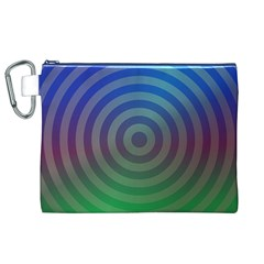 Blue Green Abstract Background Canvas Cosmetic Bag (xl)