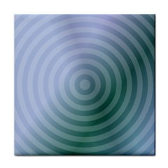 Teal Background Concentric Tile Coasters