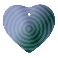 Teal Background Concentric Ornament (heart)