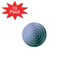 Teal Background Concentric 1  Mini Magnet (10 Pack)