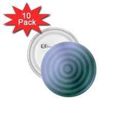 Teal Background Concentric 1 75  Buttons (10 Pack)