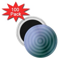 Teal Background Concentric 1 75  Magnets (100 Pack)