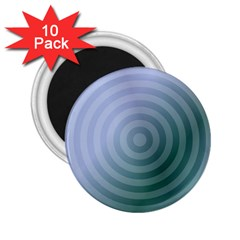 Teal Background Concentric 2 25  Magnets (10 Pack)