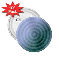 Teal Background Concentric 2 25  Buttons (100 Pack)