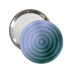 Teal Background Concentric 2 25  Handbag Mirrors