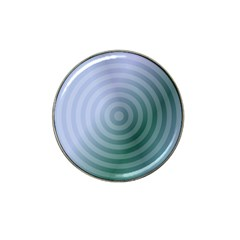 Teal Background Concentric Hat Clip Ball Marker (4 Pack)