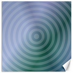 Teal Background Concentric Canvas 12  X 12