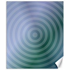 Teal Background Concentric Canvas 20  X 24