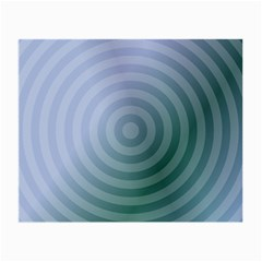 Teal Background Concentric Small Glasses Cloth (2 Side)