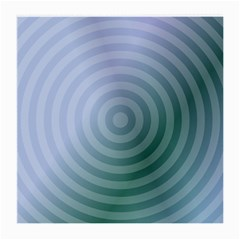 Teal Background Concentric Medium Glasses Cloth