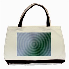 Teal Background Concentric Basic Tote Bag (two Sides)