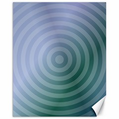Teal Background Concentric Canvas 11  X 14