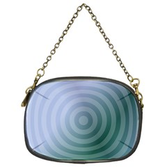 Teal Background Concentric Chain Purses (one Side)