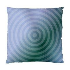 Teal Background Concentric Standard Cushion Case (two Sides)