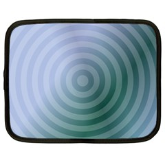 Teal Background Concentric Netbook Case (xl)