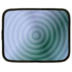 Teal Background Concentric Netbook Case (xxl)