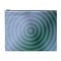 Teal Background Concentric Cosmetic Bag (xl)