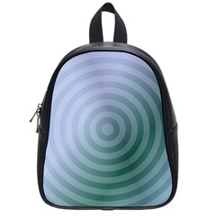 Teal Background Concentric School Bag (small)