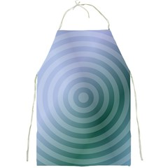 Teal Background Concentric Full Print Aprons