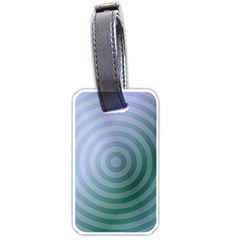 Teal Background Concentric Luggage Tags (one Side)