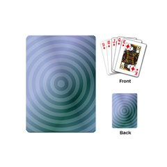 Teal Background Concentric Playing Cards (mini)