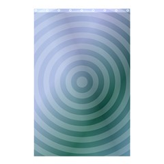 Teal Background Concentric Shower Curtain 48  X 72  (small)
