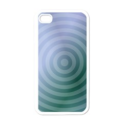 Teal Background Concentric Apple Iphone 4 Case (white)
