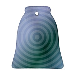 Teal Background Concentric Bell Ornament (two Sides)