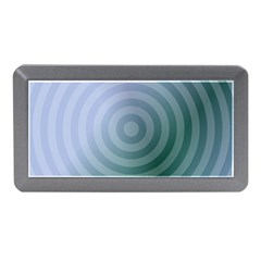 Teal Background Concentric Memory Card Reader (mini)