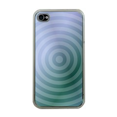 Teal Background Concentric Apple Iphone 4 Case (clear)