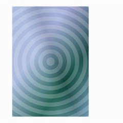 Teal Background Concentric Small Garden Flag (two Sides)