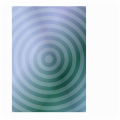 Teal Background Concentric Large Garden Flag (two Sides)