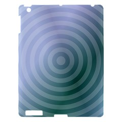 Teal Background Concentric Apple Ipad 3/4 Hardshell Case