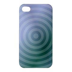 Teal Background Concentric Apple Iphone 4/4s Premium Hardshell Case