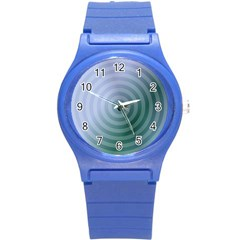 Teal Background Concentric Round Plastic Sport Watch (s)