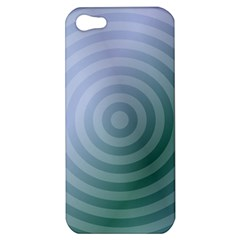 Teal Background Concentric Apple Iphone 5 Hardshell Case