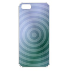 Teal Background Concentric Apple Iphone 5 Seamless Case (white)