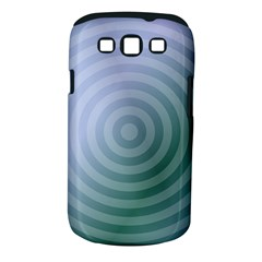 Teal Background Concentric Samsung Galaxy S Iii Classic Hardshell Case (pc+silicone)