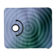 Teal Background Concentric Galaxy S3 (flip/folio)