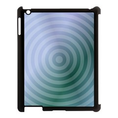 Teal Background Concentric Apple Ipad 3/4 Case (black)