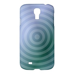 Teal Background Concentric Samsung Galaxy S4 I9500/i9505 Hardshell Case