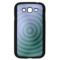 Teal Background Concentric Samsung Galaxy Grand Duos I9082 Case (black)