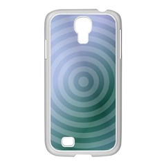 Teal Background Concentric Samsung Galaxy S4 I9500/ I9505 Case (white)