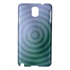 Teal Background Concentric Samsung Galaxy Note 3 N9005 Hardshell Case