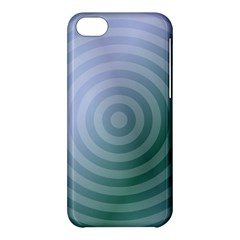 Teal Background Concentric Apple Iphone 5c Hardshell Case