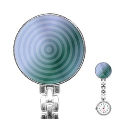 Teal Background Concentric Stainless Steel Nurses Watch