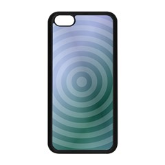 Teal Background Concentric Apple Iphone 5c Seamless Case (black)