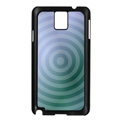 Teal Background Concentric Samsung Galaxy Note 3 N9005 Case (black)