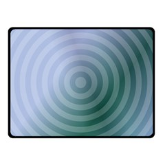 Teal Background Concentric Double Sided Fleece Blanket (small)